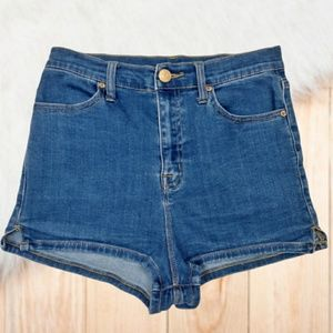 UO Pinup Super High Rise High Waisted Jean Shorts